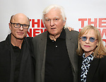 "Ed Harris, David Rabe and Amy Madigan attends The New Group presents the New York Premiere Opening Night of David Rabe's for ""Good for Otto"" on March 8, 2018 at the Green Fig Urban Eatery,  in New York City."