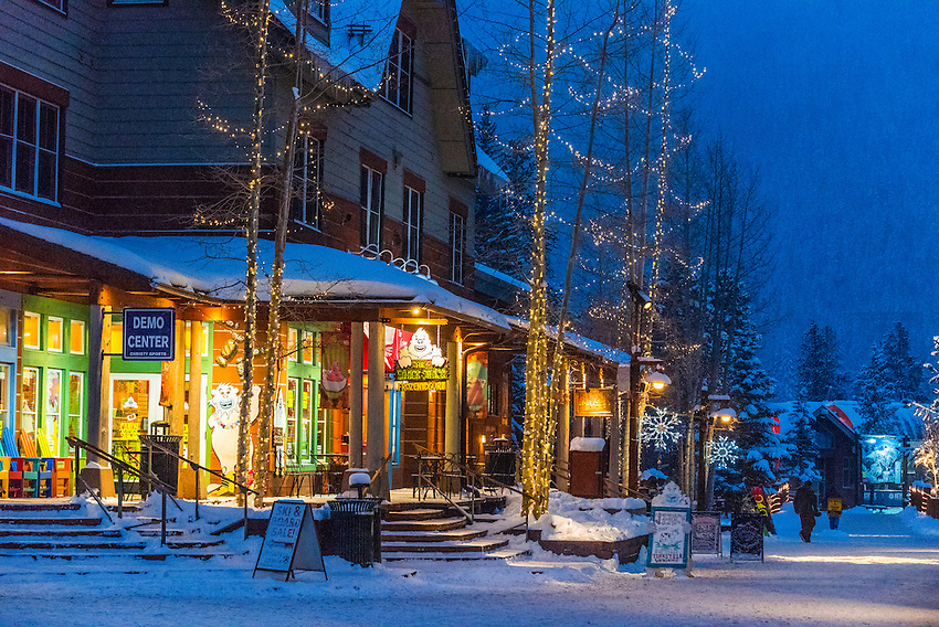 River Run Village During Holidays Keystone Resort Colorado Usa