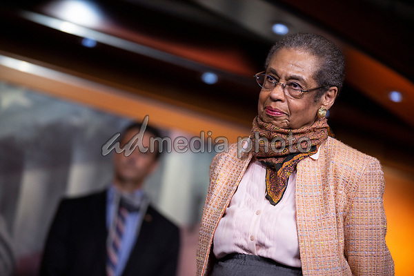 United States Delegate Eleanor Holmes Norton (Democrat of the District of Columbia) listens during a news conference with Speaker of the United States House of Representatives Nancy Pelosi (Democrat of California) regarding the vote by mail provision in the Heroes Act at the United States Capitol in Washington D.C., U.S. on Thursday, May 21, 2020. Credit: Stefani Reynolds / CNP/AdMedia