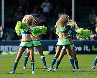 The LV= Girls perform during the LV= Cup Final match between Leicester Tigers and Northampton Saints at Sixways Stadium, Worcester on Sunday 18 March 2012 (Photo by Rob Munro, Fotosports International)