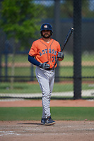 Houston Astros Ross Adolph (71) bats during a Minor League Spring Training Intrasquad game on March 28, 2019 at the FITTEAM Ballpark of the Palm Beaches in West Palm Beach, Florida.  (Mike Janes/Four Seam Images)