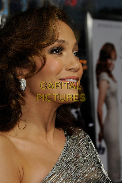 """JENNIFER LOPEZ .arriving at the premiere of CBS Films' """"The Back-up Plan"""" at the Regency Village Theatre in Westwood, California, USA, April 21st, 2010..arrivals portrait headshot one shoulder silver earring wavy hair  profile side .CAP/ROT.©Lee Roth/Capital Pictures"""