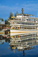 The sternwheeler Riverboat Discovery, Chena River, Fairbanks, Alaska.
