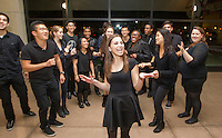 The A Capella group performing in the concourse area of Maples Pavilion on Saturday, March 1, 2014 before the Stanford women's basketball game against Washington State.
