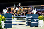 Marc Houtzager of The Netherlands riding Sterrehof's Calimero competes in the Hong Kong Jockey Club Trophy during the Longines Masters of Hong Kong at the Asia World Expo on 09 February 2018, in Hong Kong, Hong Kong. Photo by Ian Walton / Power Sport Images