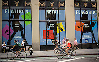 Retail space available in the Flatiron neighborhood in New York seen on Saturday, June 22, 2013. (© Richard B. Levine)