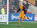 07/02/2009  Copyright Pic: James Stewart.File Name : sct_jspa18_motherwell_v_stmirren.STEPHEN HUGHES CELEBRATES AFTER HE SCORES THE EQUALISER.James Stewart Photo Agency 19 Carronlea Drive, Falkirk. FK2 8DN      Vat Reg No. 607 6932 25.Studio      : +44 (0)1324 611191 .Mobile      : +44 (0)7721 416997.E-mail  :  jim@jspa.co.uk.If you require further information then contact Jim Stewart on any of the numbers above.........