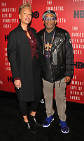 NEW YORK, NY - April 18: Tonya Lewis Lee and Spike Lee attend 'The Immortal Life of Henrietta Lacks' premiere at SVA Theater on April 18, 2017 in New York City. <br /> CAP/MPI/JP<br /> &copy;JP/MPI/Capital Pictures