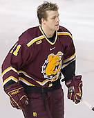 Matt Stefanishion - The Boston College Eagles and Ferris State Bulldogs tied at 3 in the opening game of the Denver Cup on Friday, December 30, 2005, at Magness Arena in Denver, Colorado.  Boston College won the shootout to determine which team would advance to the Final.