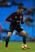 3rd December 2017, Etihad Stadium, Manchester, England; EPL Premier League football, Manchester City versus West Ham United; Manuel Lanzini of West Ham warming up