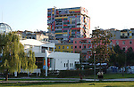 Tirana/Tirane-Albania - August 01, 2004---Modern architecture of a building with apartments, in the center of Tirana, capital city of Albania; culture-infrastructure---Photo: Horst Wagner/eup-images