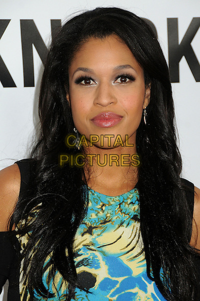 "Kali Hawk.""This Is 40"" Los Angeles Premiere held at Grauman's Chinese Theatre, Hollywood, California, USA..December 12th, 2012.headshot portrait yellow blue turquoise print .CAP/ADM/BP.©Byron Purvis/AdMedia/Capital Pictures."