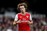 7th March 2020; Emirates Stadium, London, England; English Premier League Football, Arsenal versus West Ham United; David Luiz of Arsenal - Strictly Editorial Use Only. No use with unauthorized audio, video, data, fixture lists, club/league logos or 'live' services. Online in-match use limited to 120 images, no video emulation. No use in betting, games or single club/league/player publications