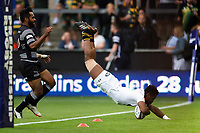 Taju Atta of Wasps scores a try. Premiership Rugby 7s (Day 2) on July 28, 2018 at Franklin's Gardens in Northampton, England. Photo by: Patrick Khachfe / Onside Images