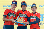 Bahrain-Merida lead the team classification at the end of Stage 9 of the La Vuelta 2018, running 200.8km from Talavera de la Reina to La Covatilla, Spain. 2nd September 2018.<br /> Picture: Unipublic/Photogomezsport | Cyclefile<br /> <br /> <br /> All photos usage must carry mandatory copyright credit (&copy; Cyclefile | Unipublic/Photogomezsport)