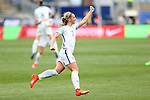 CHESTER, PA - MARCH 01: Jordan Nobbs (ENG) celebrates her goal. The England Women's National Team played the France Women's National Team as part of the She Believes Cup on March, 1, 2017, at Talen Engery Stadium in Chester, PA. The France won the game 2-1.