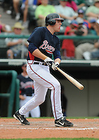 17 March 2009: Infielder Freddie Freeman of the Atlanta Braves, a spring non-roster invitee, in a game against the New York Mets at the Braves' Spring Training camp at Disney's Wide World of Sports in Lake Buena Vista, Fla. Photo by:  Tom Priddy/Four Seam Images