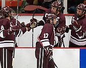 Spiro Goulakos (Colgate - 6), Robbie Bourdon (Colgate - 17) - The Harvard University Crimson defeated the visiting Colgate University Raiders 4-2 on Saturday, November 12, 2011, at Bright Hockey Center in Cambridge, Massachusetts.