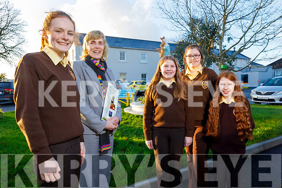 Eileen Kennelly, Principal of Presentation Secondary School in Listowel welcomes their new funding in the region of €3 million for the upgrade of the school. Front l to r: Maire O'Neill (Deputy Head Girl) and Eileen Kennelly  <br /> Back: Tara Daly, Eimear Shine (Head Girl) and Aine Fitzmaurice