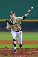 Notre Dame Fighting Irish pitcher Steve Sabatino #52 delivers a pitch during a game against the Illinois Fighting Illini at the Big Ten/Big East Challenge at Walter Fuller Complex on February 17, 2012 in St. Petersburg, Florida.  (Mike Janes/Four Seam Images)