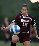 07 September 2007: Texas A&M's Amy Berend. The University of North Carolina Tar Heels defeated the Texas A&M University Aggies 2-1 at Fetzer Field in Chapel Hill, North Carolina in an NCAA Division I Women's Soccer game, and part of the annual Nike Carolina Classic tournament.