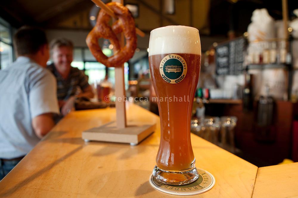 Hefeweizon beer, Altes Tramdepot bar and restaurant, Bern, Switzerland, 26 August 2011