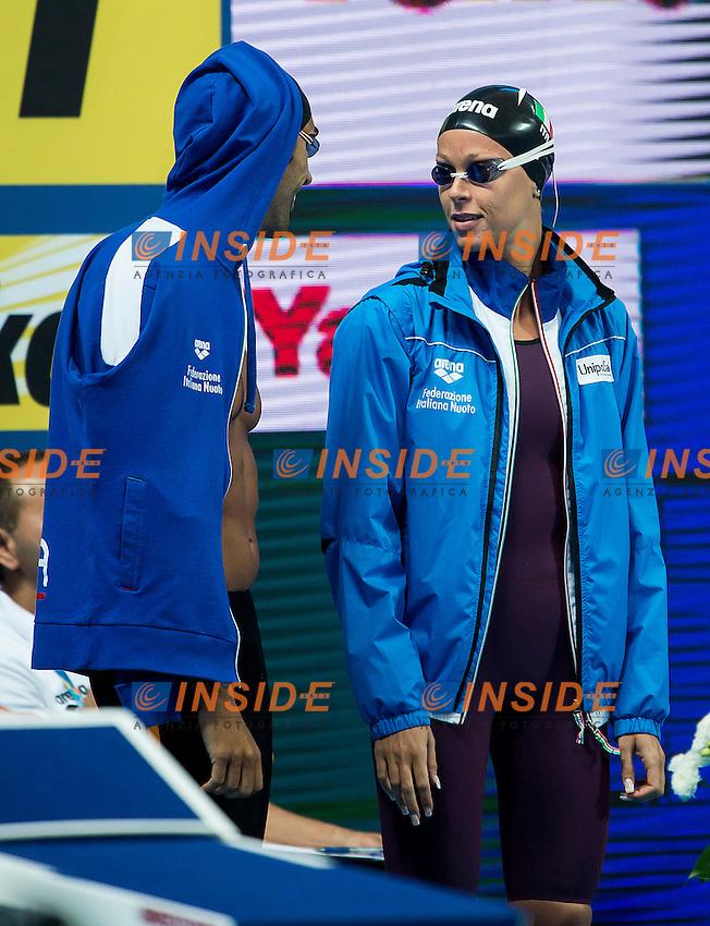 PELLEGRINI Federica MAGNINI Filippo ITA<br /> Mixed Freestyle Relay 4X100 Heats<br /> Swimming - Kazan Arena<br /> Day07 08/07/2015<br /> XVI FINA World Championships Aquatics Swimming<br /> Kazan Tatarstan RUS July 24 - Aug. 9 2015 <br /> Photo A.Masini/Deepbluemedia/Insidefoto
