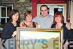 Delia Casey, Kitty O'Connor, Eugene Tangney and Debbie O'Sullivan at the fundraiser to help buy a defibrillator for Beaufort in Kate Kearney's Cottage on Friday night