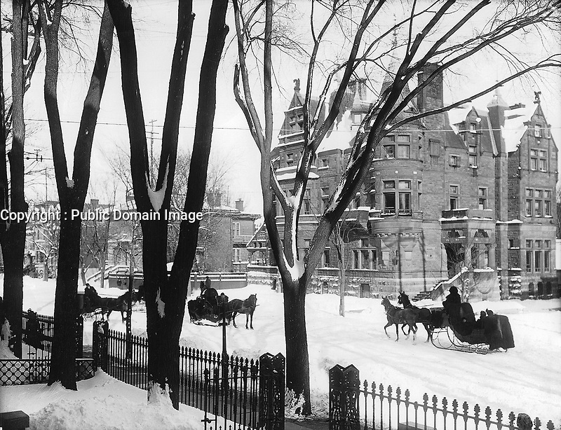 File:Sir George A. Drummond's House, l,Sherbrooke Street in winter, Montreal, QC, 1896