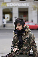 Montreal (Qc) CANADA -Nov  2007- MOdel Released photo of a 17 year old half Canadian - half Vietnamese emo teenager
