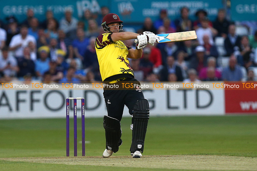 Jim Allenby hits four runs for Somerset during Essex Eagles vs Somerset, NatWest T20 Blast Cricket at The Cloudfm County Ground on 13th July 2017