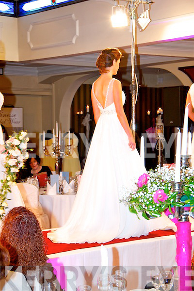 Models showcasing some beautiful wedding dresses at the Devon Inn Wedding Fayre on Sunday.