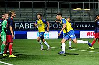 LEEUWARDEN - Voetbal, SC Cambuur - Jong Ajax, Cambuur stadion, seizoen 2017-2018, 18-08-2017,  SC Cambuur speler Matthew Steenvoorden viert de 1-2