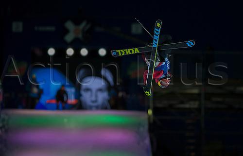 27.02.2016. Toyen, Big Jump Oslo, Norway.  Red Bull X Games Oslo 2016. Men's Ski Big Air Final. Oystein Braaten of Norway in action during the Men's Ski Big Air Final at the Red Bull X Games Oslo 2016 in Toyen Big Jump  Oslo, Norway.