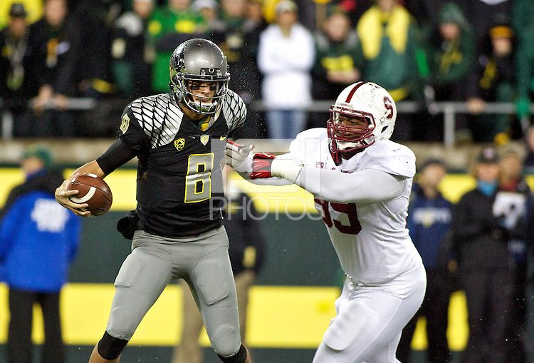 EUGENE, OR - November 17, 2012: Stanford Cardinal football vs the Oregon Ducks at Autzen Stadium in Eugene, OR. The Cardinal won 17-14 in OT.