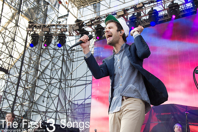 Michael Angelakos of Passion Pit performs at White River State Park in Indianapolis, Indiana.