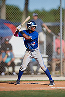 Kyren Paris during the WWBA World Championship at the Roger Dean Complex on October 19, 2018 in Jupiter, Florida.  Kyren Paris is a shortstop from Oakley, California who attends Freedom High School and is committed to California.  (Mike Janes/Four Seam Images)