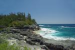 Craggy windswept Beach near Spittle Pond in Bermuda.
