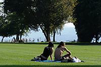Uferanlagen am Zürichhorn, Zürich, Schweiz