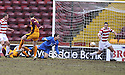 14/02/2009  Copyright Pic: James Stewart.File Name : sct_jspa03_motherwell_v_hamilton.DAVID CLARKSON SCORES MOTHERWELL'S FIRST.James Stewart Photo Agency 19 Carronlea Drive, Falkirk. FK2 8DN      Vat Reg No. 607 6932 25.Studio      : +44 (0)1324 611191 .Mobile      : +44 (0)7721 416997.E-mail  :  jim@jspa.co.uk.If you require further information then contact Jim Stewart on any of the numbers above.........