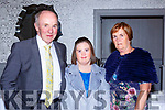 Brendan, Mar Clare and Maisie McCarthy at the Kerrys Stars ball in the Dromhall Hotel on Saturday night