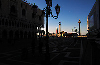 Early morning light on San Giorgio Maggiore,from St Marks square, Venice, Italy.