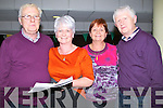MARKING: Picking a winner at the Kingdom Greyhound Stadium Tralee on saturday night, were the Galvins from Asdee, John,Martina,Gerardine and Billy Galvin.