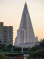 Hotel Ryanggang in Pyongyang, Nordkorea, Asien<br /> Hotel Ryuanggang, Pyongyang, North Korea, Asia