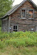 Abandoned home on a back road in Jefferson, New Hampshire  USA which is part of scenic New England