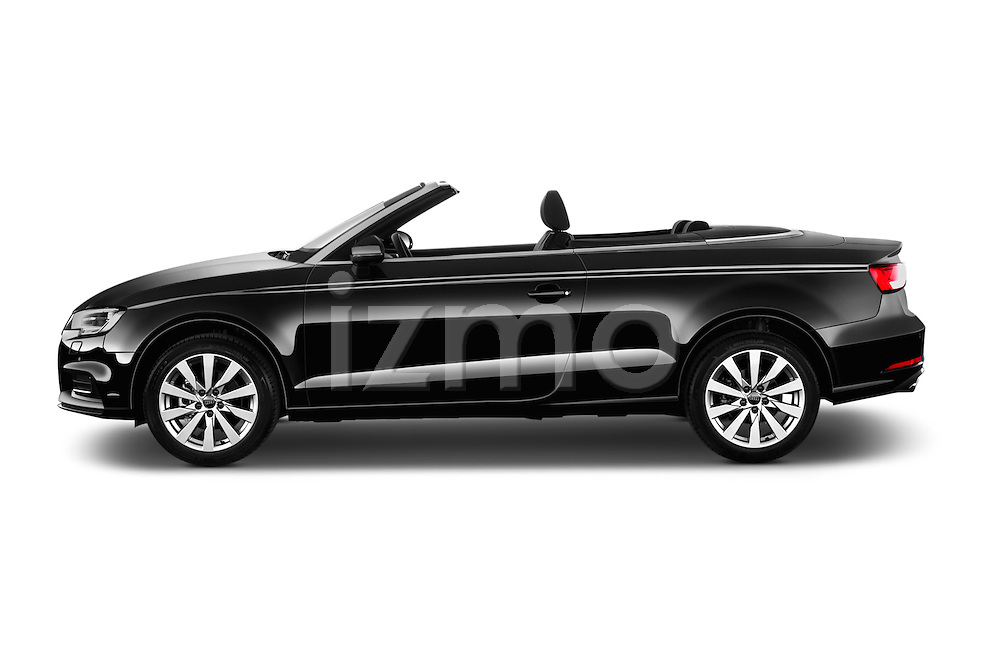 Car Driver side profile view of a 2017 Audi A3-Cabriolet Design 2 Door Convertible Side View