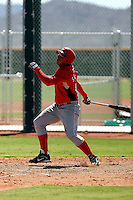 Carlos Sanchez - Cincinnati Reds 2009 Instructional League. .Photo by:  Bill Mitchell/Four Seam Images..