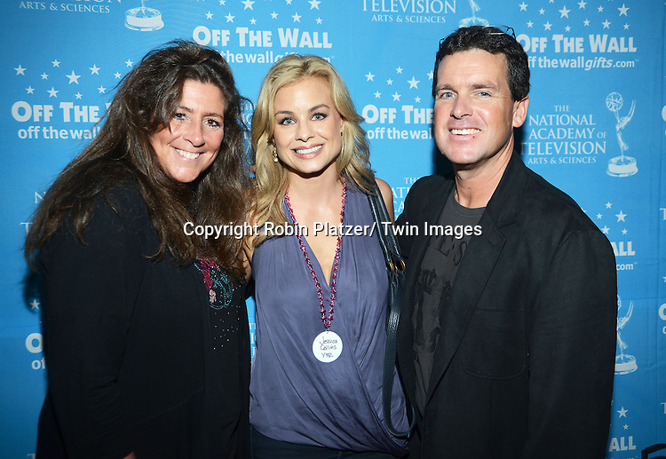 Valerie Wilson, Jessica Collins and Mike Liston attends the Gifting Suite for the Daytime Emmy Awards by Off The Wall Productions on June 15, 2013 at the Beverly Hills Hotel in Beverly Hills, California.