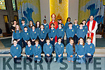 The 6th class students of Scoil Eoin Balloonagh who were Confirmed in Our Lady & St. Brendan's Church on Friday. By Bishop Ray Browne. Pictured Triona Daly, Class with PP Fr. Padraig Walsh