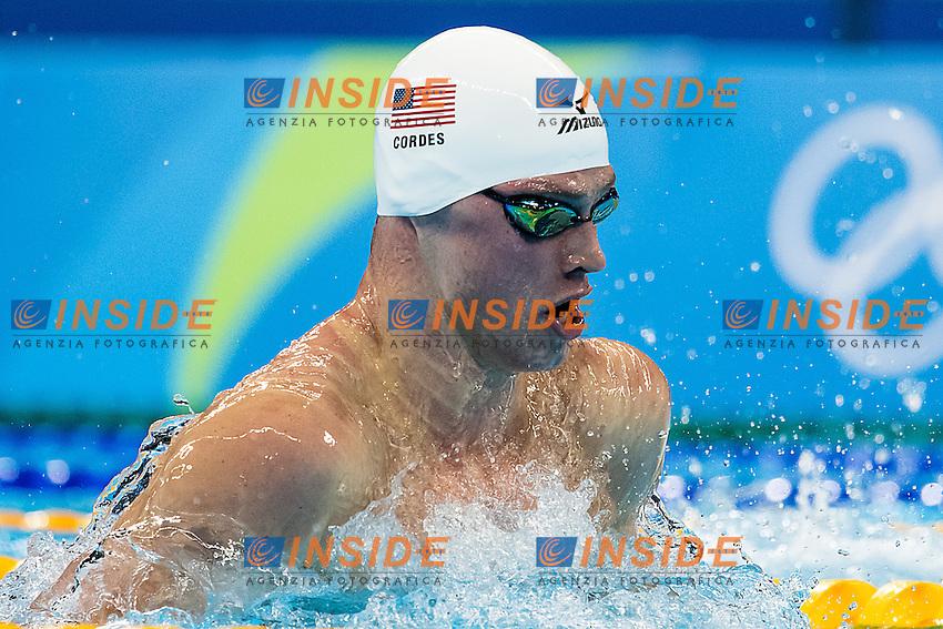 Cordes Kevin USA<br /> 100 breaststroke men<br /> Rio de Janeiro 06-08-2016 XXXI Olympic Games <br /> Olympic Aquatics Stadium <br /> Swimming heats 06/08/2016<br /> Photo Giorgio Scala/Deepbluemedia/Insidefoto